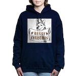 Merry Christmas Dog Women's Hooded Sweatshirt
