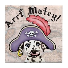 Dalmatian Pirate Tile Coaster