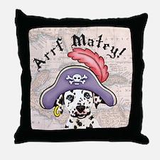 Dalmatian Pirate Throw Pillow