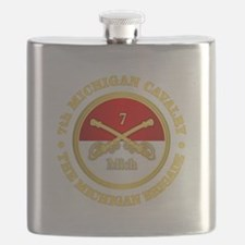 7th Michigan Cavalry Flask