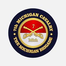 7th Michigan Cavalry Button