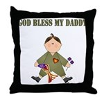 God Bless My Daddy Throw Pillow