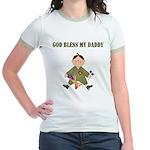 God Bless My Daddy Jr. Ringer T-Shirt