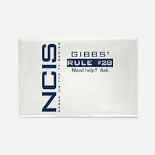 NICS Gibbs' Rule 28 Rectangle Magnet