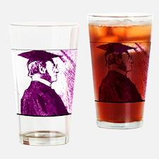 Cute Teachers master degree Drinking Glass