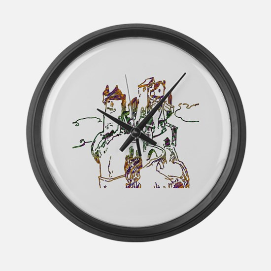 Cute Castles palaces Large Wall Clock