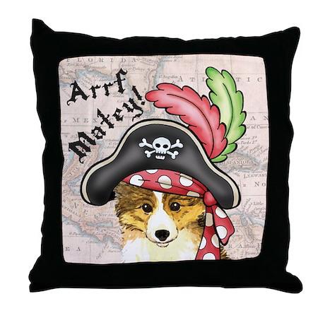 Sheltie Pirate Throw Pillow