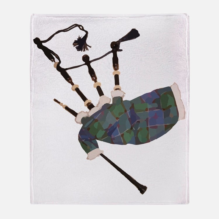 Cute Bagpipes Throw Blanket