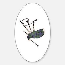 Unique Bagpiper Sticker (Oval)