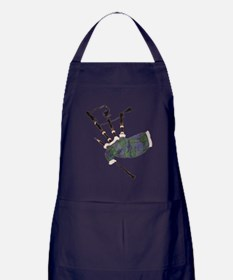 Cute Bagpiper Apron (dark)
