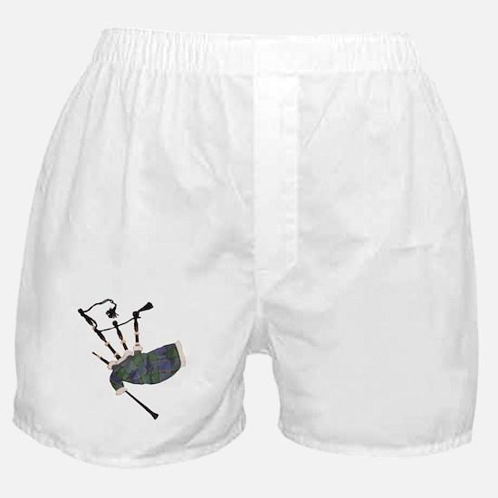 tartan plaid scottish bagpipes Boxer Shorts