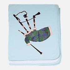 tartan plaid scottish bagpipes baby blanket