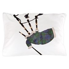 tartan plaid scottish bagpipes Pillow Case