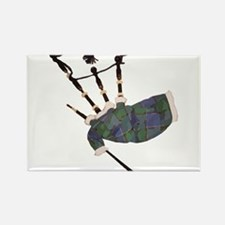 tartan plaid scottish bagpipes Magnets