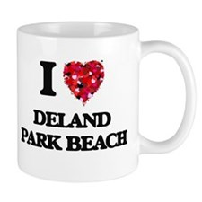 I love Deland Park Beach Wisconsin Mugs