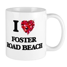 I love Foster Road Beach Wisconsin Mugs