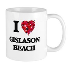 I love Gislason Beach Wisconsin Mugs