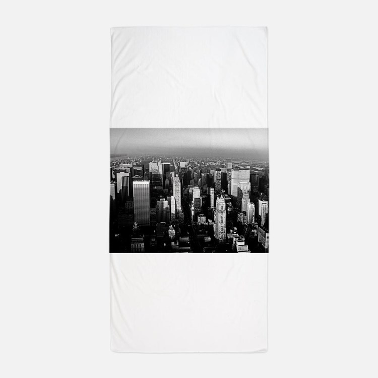 Cute Skyscrapers Beach Towel