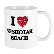 I love Neshotah Beach Wisconsin Mugs