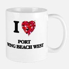 I love Port Wing Beach West Wisconsin Mugs