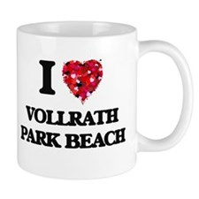 I love Vollrath Park Beach Wisconsin Mugs