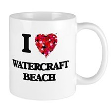 I love Watercraft Beach Wisconsin Mugs