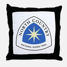 North Country National Trail Throw Pillow