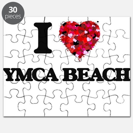 I love Ymca Beach Wisconsin Puzzle