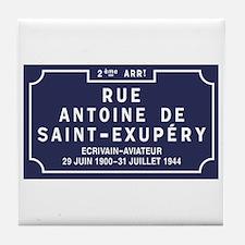 Rue Antoine de Saint-Exupery, Lyon, F Tile Coaster