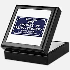 Rue Antoine de Saint-Exupery, Lyon, F Keepsake Box