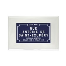Rue Antoine de Saint-Exupery, Lyo Rectangle Magnet