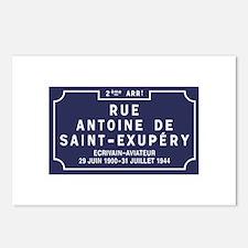 Rue Antoine de Saint-Exup Postcards (Package of 8)