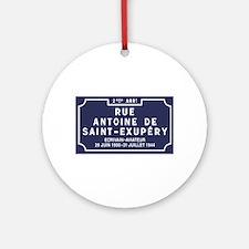 Rue Antoine de Saint-Exupery, Lyon, Round Ornament