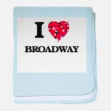 I love Broadway New Jersey baby blanket