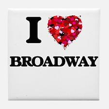 I love Broadway New Jersey Tile Coaster