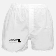 Read the instructions Boxer Shorts