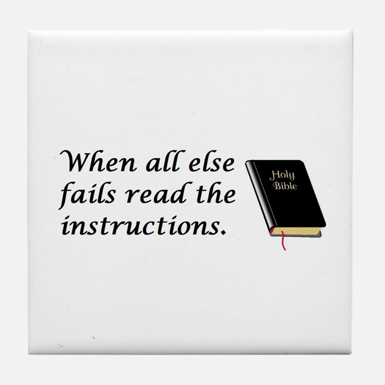 Read the instructions Tile Coaster