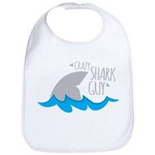 CRAZY shark guy Bib