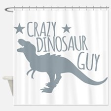 Crazy Dinosaur GUY (T-REX Tyrannos Shower Curtain