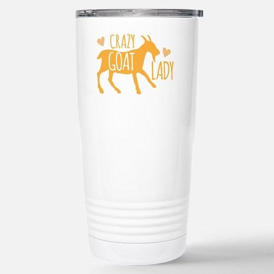 Crazy Goat Lady Stainless Steel Travel Mug