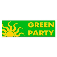 Green Party bumper sticker