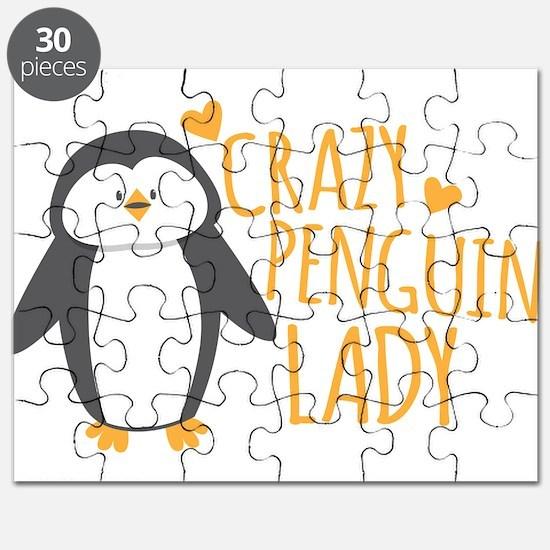 Crazy Penguin Lady Puzzle
