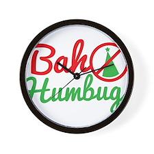 Bah Humbug NO CHRISTMAS! Wall Clock