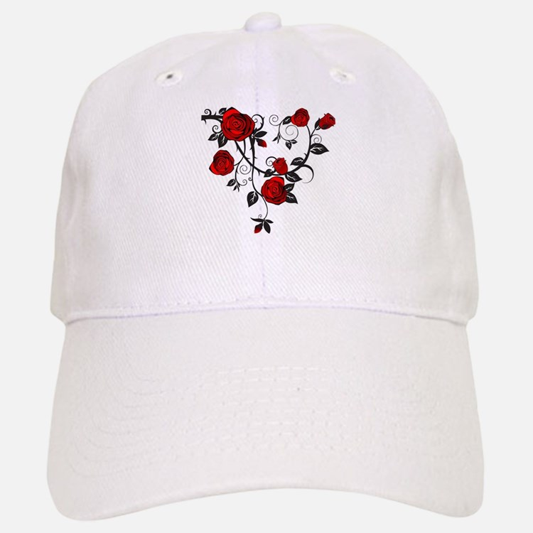 Red Rose Baseball Baseball Cap