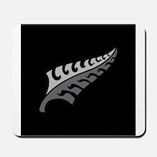 New Silver fern tattoo on black New Zeal Mousepad