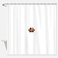 gobbler-Thanksgiving Shower Curtain