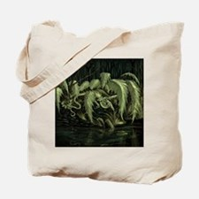 Earth Leaf Dragon Tote Bag