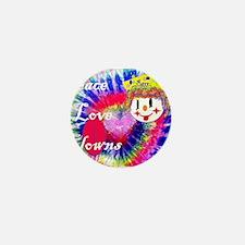 Peace ,Love & Clowns Mini Button