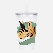 Zebra unicorn Acrylic Double-wall Tumbler