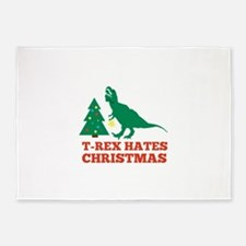 T-Rex Hates Christmas 5'x7'Area Rug